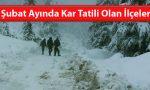 Kahramanmaraş'ta Şubat Ayında Kar Tatili