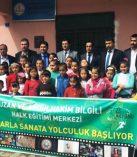 Sarıçukur İlkokulunda Ebru Çalışması