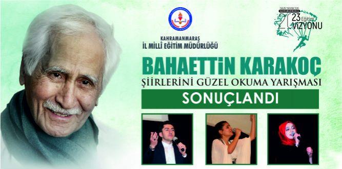 Bahaettin Karakoç'un Şiirlerini Güzel Okuma Yarışması Sonuçlandı