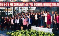 Maraş Kız Öğretmen Okulu mezunları 43 yıl sonra buluştu