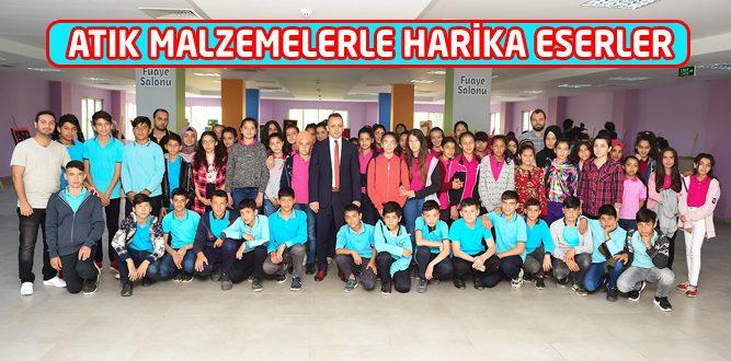 Karacaoğlan Ortaokulu Öğrencilerden Anlamlı Resim Sergisi