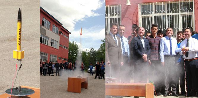 Elbistan da MTAL Öğrencileri Füze Yaptı