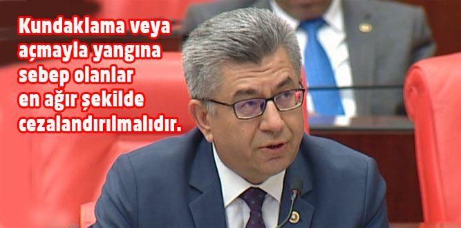 Milletvekili Aycan'ın TBMM'de Orman Gündemi