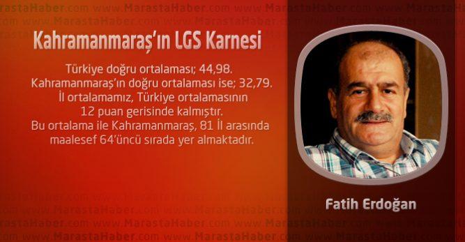 Kahramanmaraş'ın LGS Karnesi