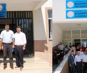 Müdür Harun Kurt, Kemalli İlkokulu, Başdervişli ilk ve Ortaokulunu ziyaret etti