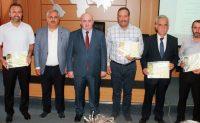 Kahramanmaraş'ta Kalite Takip Sistemi Projesi Başarı Belgesi teslim töreni yapıldı.