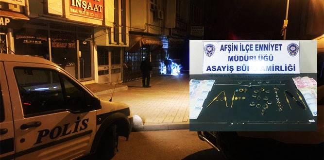 Kuyumcu Hırsızının Maskesini Afşin Polisi düşürdü!