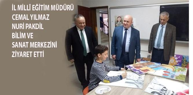 Millî Eğitim Müdürü Yılmaz, BİLSEM'i Ziyaret Etti