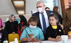Başkan Mahçiçek Lösemili Çocuklarla Mutluluğun Resmini Çizdi