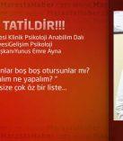 TATİL TATİLDİR!!!