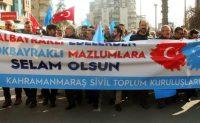Kahramanmaraş'ta Düzenlenen Doğu Türkistan İçin Yürüyüş Fotoğrafları