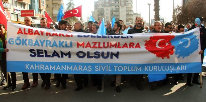 Kahramanmaraş'ta Doğu Türkistan İçin Yürüyüş