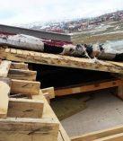 Fırtına Nurhak'ta Okul Çatılarını Uçurdu