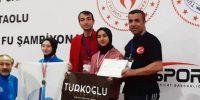 Kahramanmaraş'ın Yüz Akı Wushu Şampiyonu