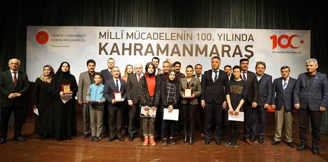 Kahramanmaraş'ta Dereceye Girenlere 100. yıl Ödülü