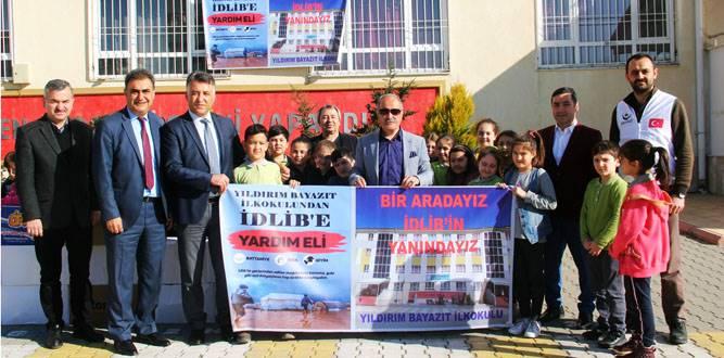 Yıldırım Bayazıt İlkokulundan İdlib'e Maddi Yardım