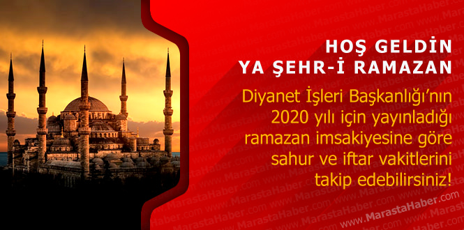 Ağrı 2020 Ramazan imsakiyesi – Diyanet namaz, iftar ve sahur vakti