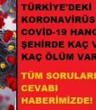 Kahramanmaraş'taki Corona (Covid19) Vaka – Ölüm Sayısı İl İl Tam Liste