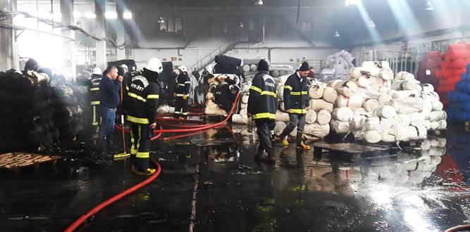 Fabrikada çıkan yangına başarılı müdahale