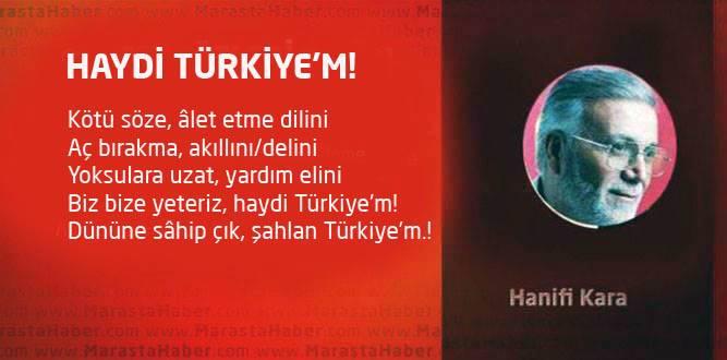 HAYDİ TÜRKİYE'M!