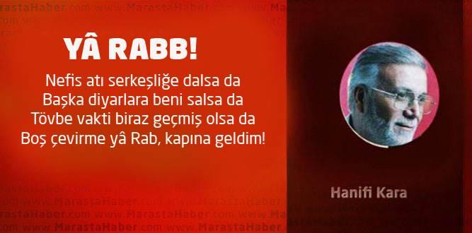 YÂ RABB!