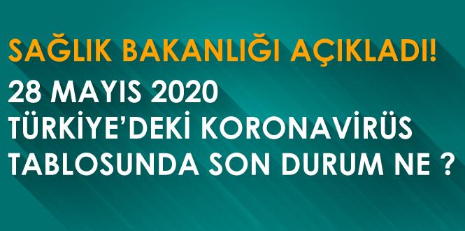 28 Mayıs 2020 Türkiye Koronavirüs vaka, ölüm ve iyileşen hasta açıklandı!
