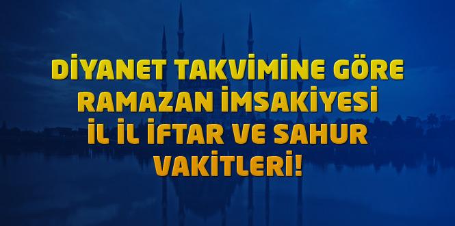 Diyarbakır imsakiye 2020 ramazan – Diyanet iftar vakti ve sahur saati ne kadar kaldı