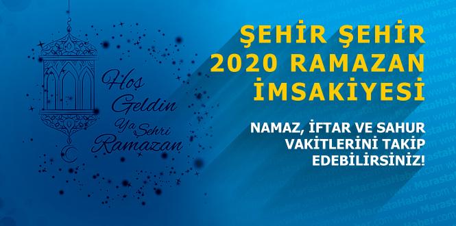 Kahramanmaraş imsakiye 2 Mayıs 2020 Diyanet ramazan iftar vakti ve sahur saati ne kadar kaldı