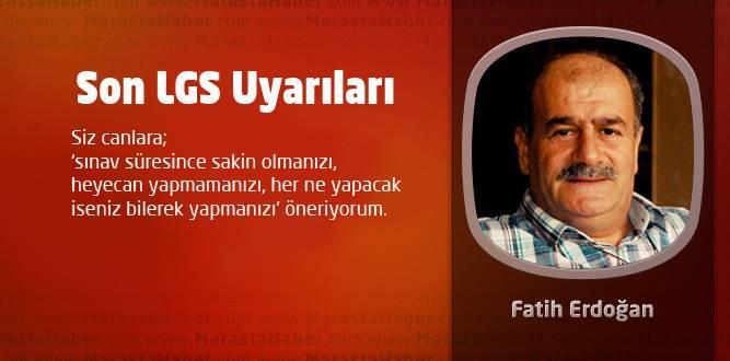 Erdoğan'dan Son LGS Uyarıları