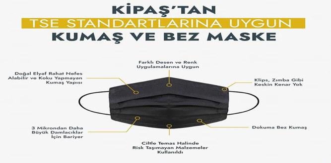 KİPAŞ Tekstil Standartlara Uygun Maske Üretimine Başladı