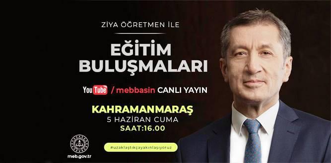 Bakan Ziya Selçuk Kahramanmaraş'da ki Öğretmenlerle Buluşuyor