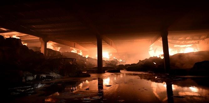 Vali ve Belediye Başkanı Yangın Yerinde