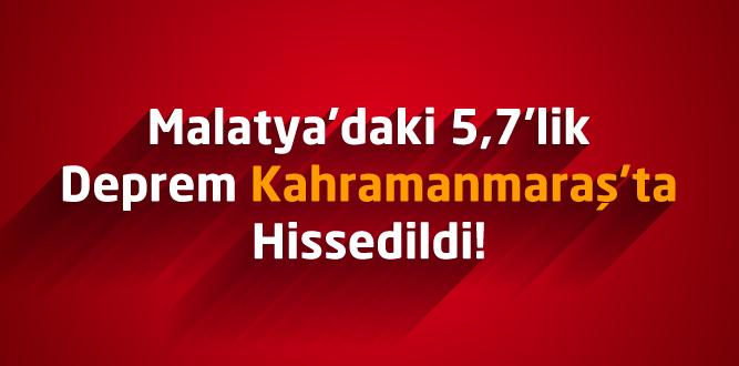 Malatya'daki 5,7'lik Deprem Kahramanmaraş'ta Hissedildi!