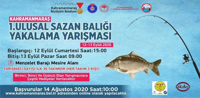1.Ulusal Sazan Balığı Yakalama Yarışması