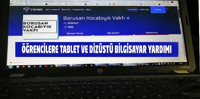 İhtiyaç sahibi öğrencilere tablet ve bilgisayar verilecek