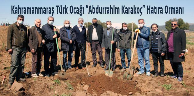 """Türk Ocakları """"Abdurrahim Karakoç Hatıra Ormanı"""""""