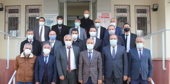 HEM Müdürleri Pazarcık İlçesinde Değerlendirme Toplantısı Yaptı