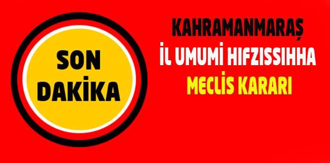 İL UMUMİ HIFZISSIHHA MECLİS KARARI