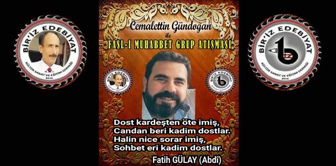 Biriz Edebiyat Cemalettin Gündoğan İle Fasl-ı Muhabbet Grup Atışması 35