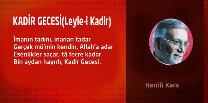 KADİR GECESİ (Leyle-i Kadir)