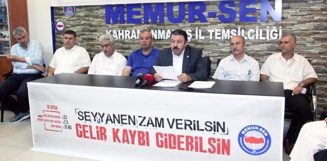 Kahramanmaraş MEMUR-SEN'den Seyyanen Zam İsteği