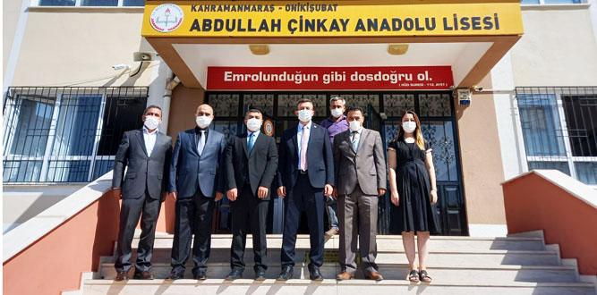 Kaymakam Keçeli, Abdullah Cinkay Anadolu Lisesini Ziyaret Etti