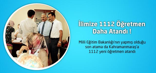 Kahramanmaraş'a 1.112 yeni öğretmen atandı