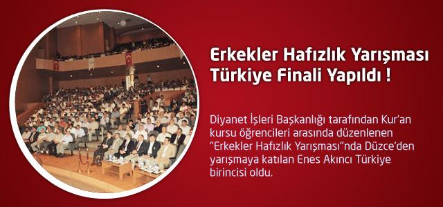 Erkekler Hafızlık Yarışması Türkiye Finali Yapıldı