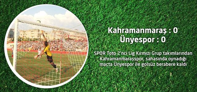 Kahramanmaraşspor : 0 – Ünyespor : 0