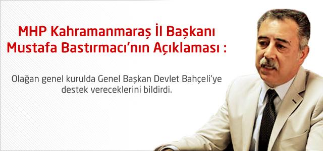 MHP İl Başkanı Bastırmacı Açıklaması