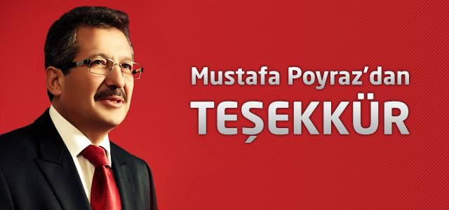 Mustafa Poyraz'dan Teşekkür