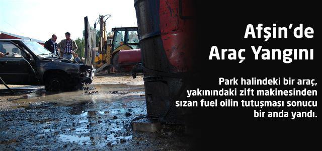 Afşin'de Araç Yangını