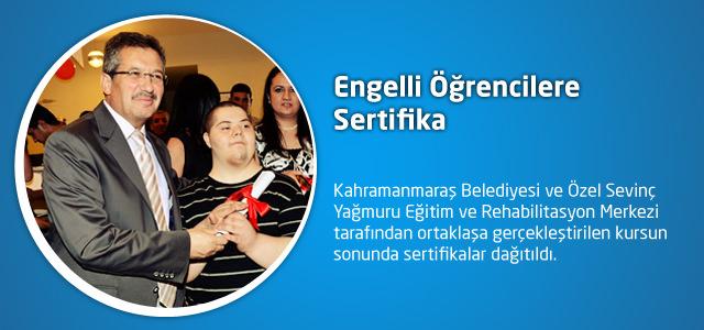 Engelli Öğrencilere Sertifika