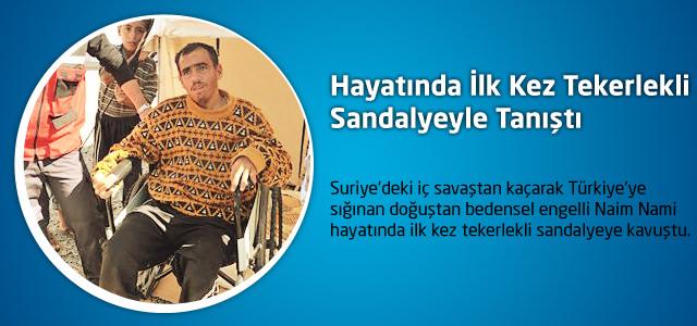 Hayatında İlk Kez Tekerlekli Sandalyeyle Tanıştı